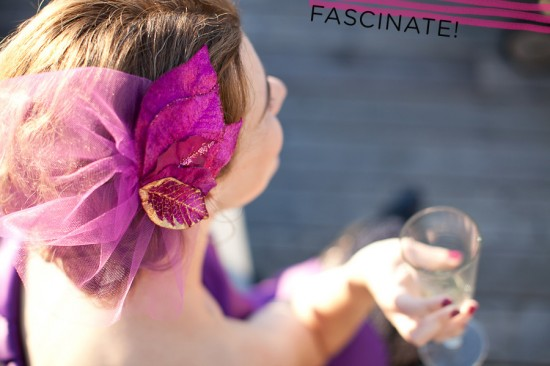 Homemade Hats Ahoy! Sparkly floral fascinator from A Practical Wedding