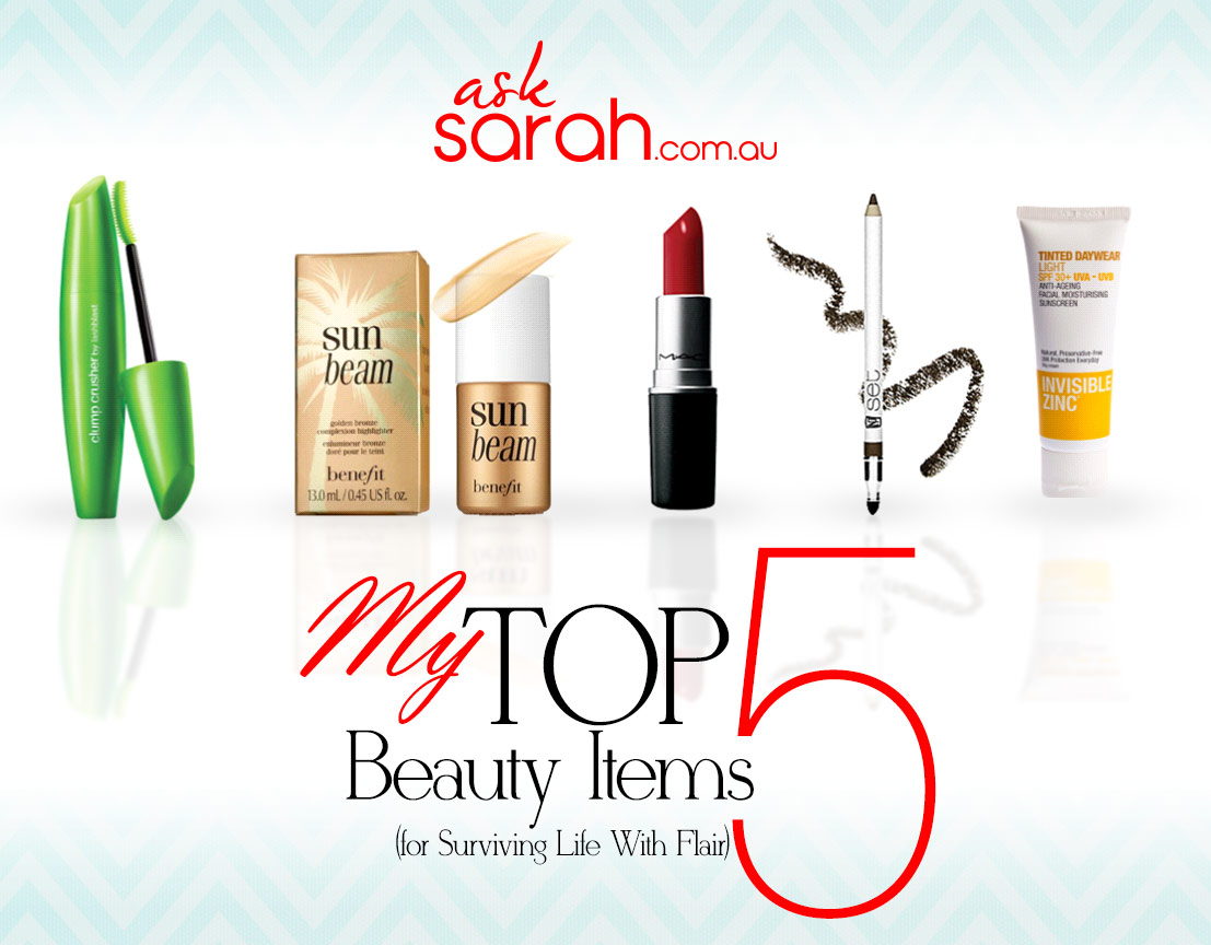 My Top 5 Beauty/Makeup Items For Surviving Life With Flair! {My desert island picks}
