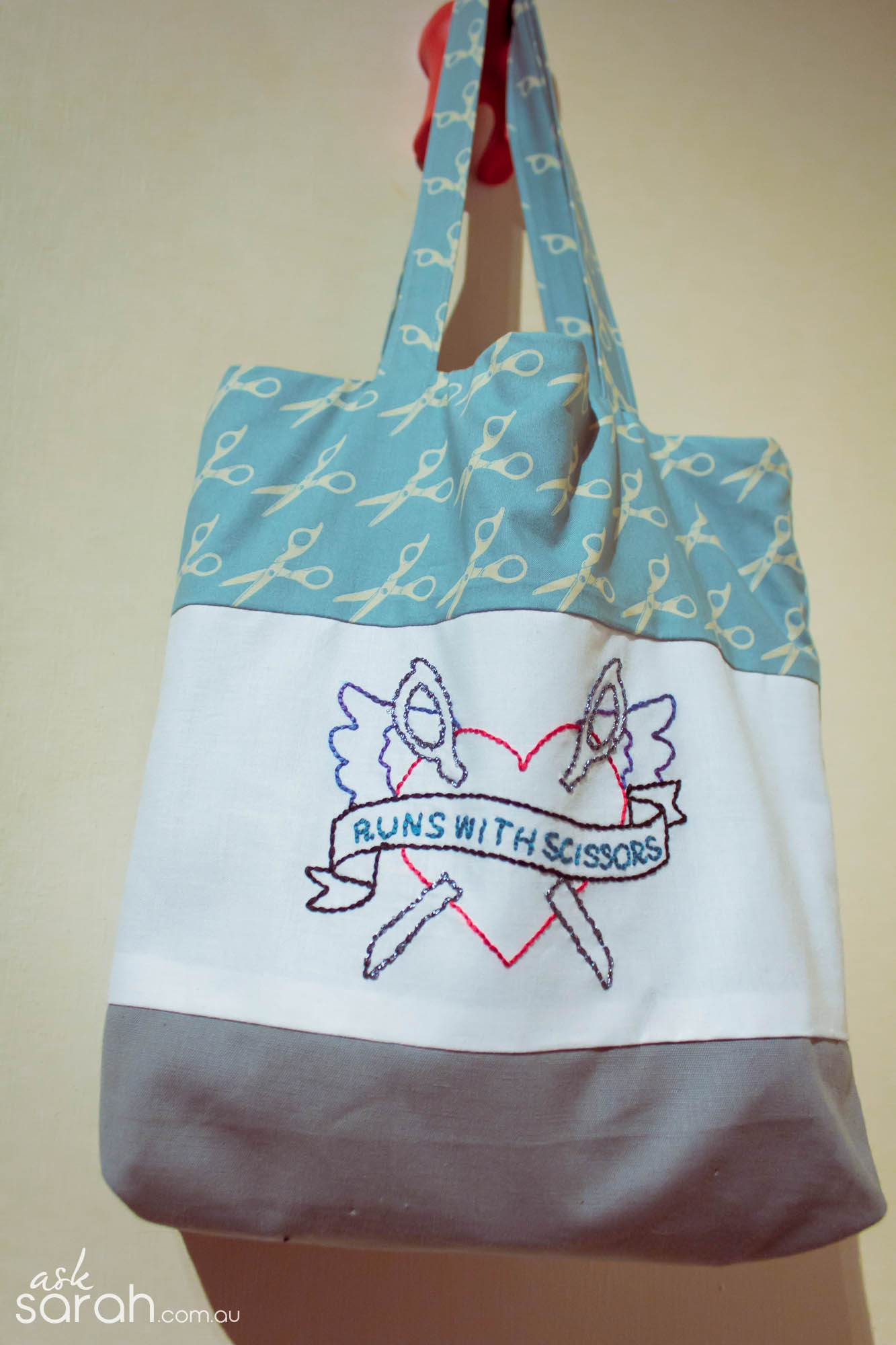 Sew: Hand Embroidered Tote {Pattern & Tutorial Links Included!}
