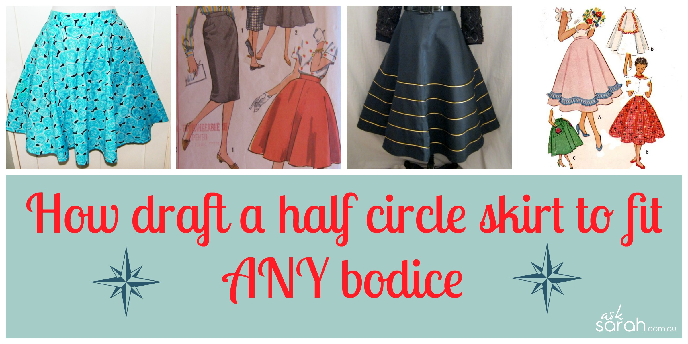 Sew: How To Draft A Half Circle Skirt For Any Woven Bodice