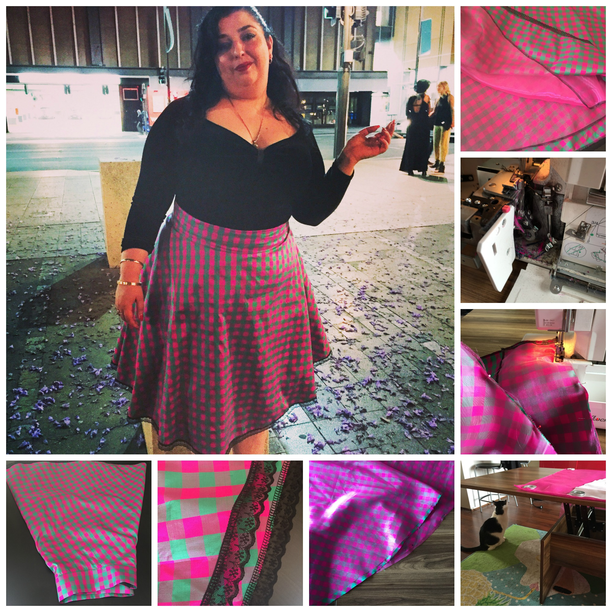 Sew: The Lemonade Skirt {A Cautionary Tale of Sewing with Cats & Some Sewing Drama}