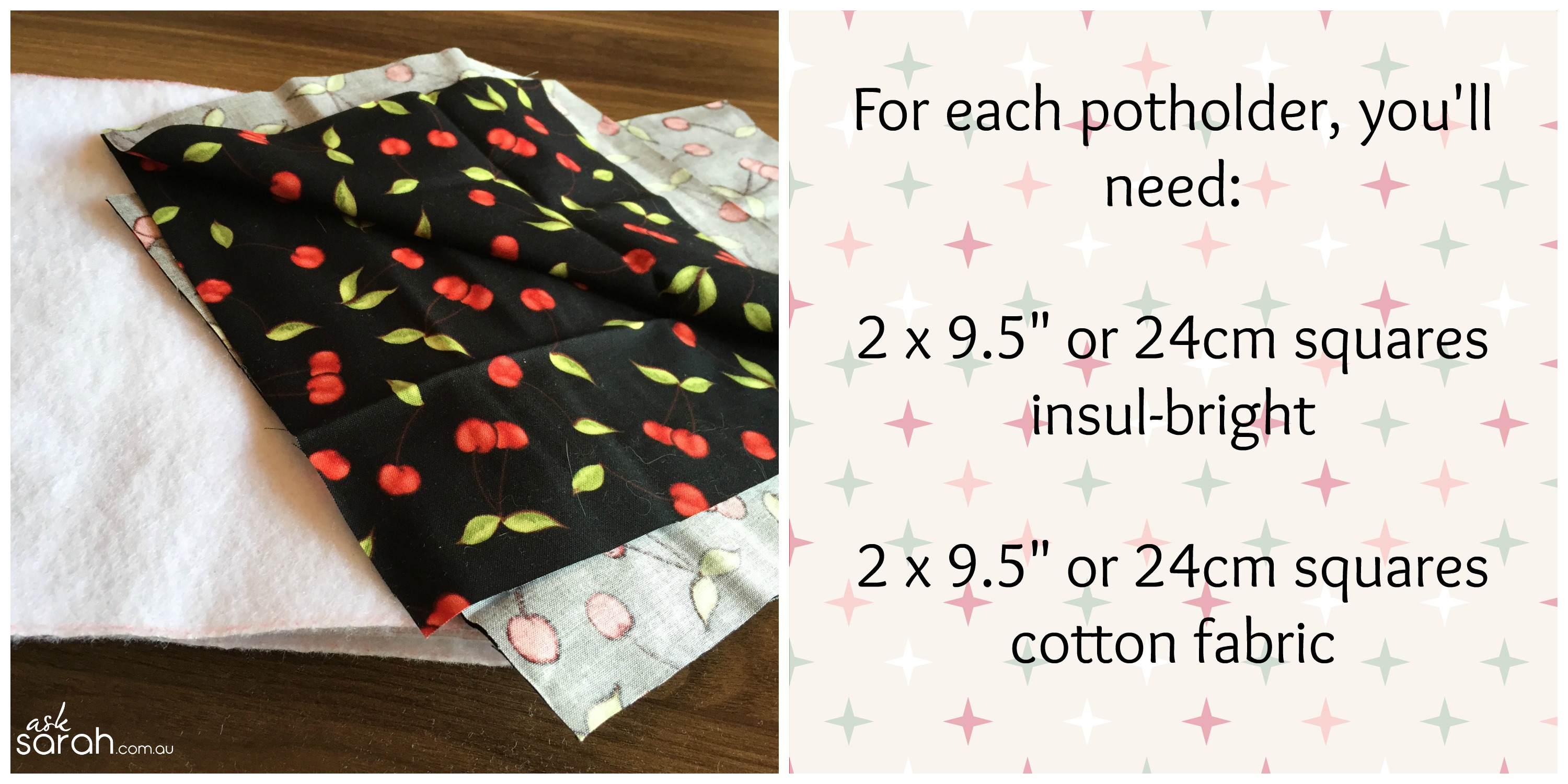 Sew: Simple Square Potholder Tutorial {The Perfect Quick & Easy Handmade Gift}