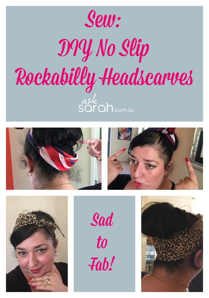 Sew: DIY No Slip Rockabilly Headscarves I love headscarves!