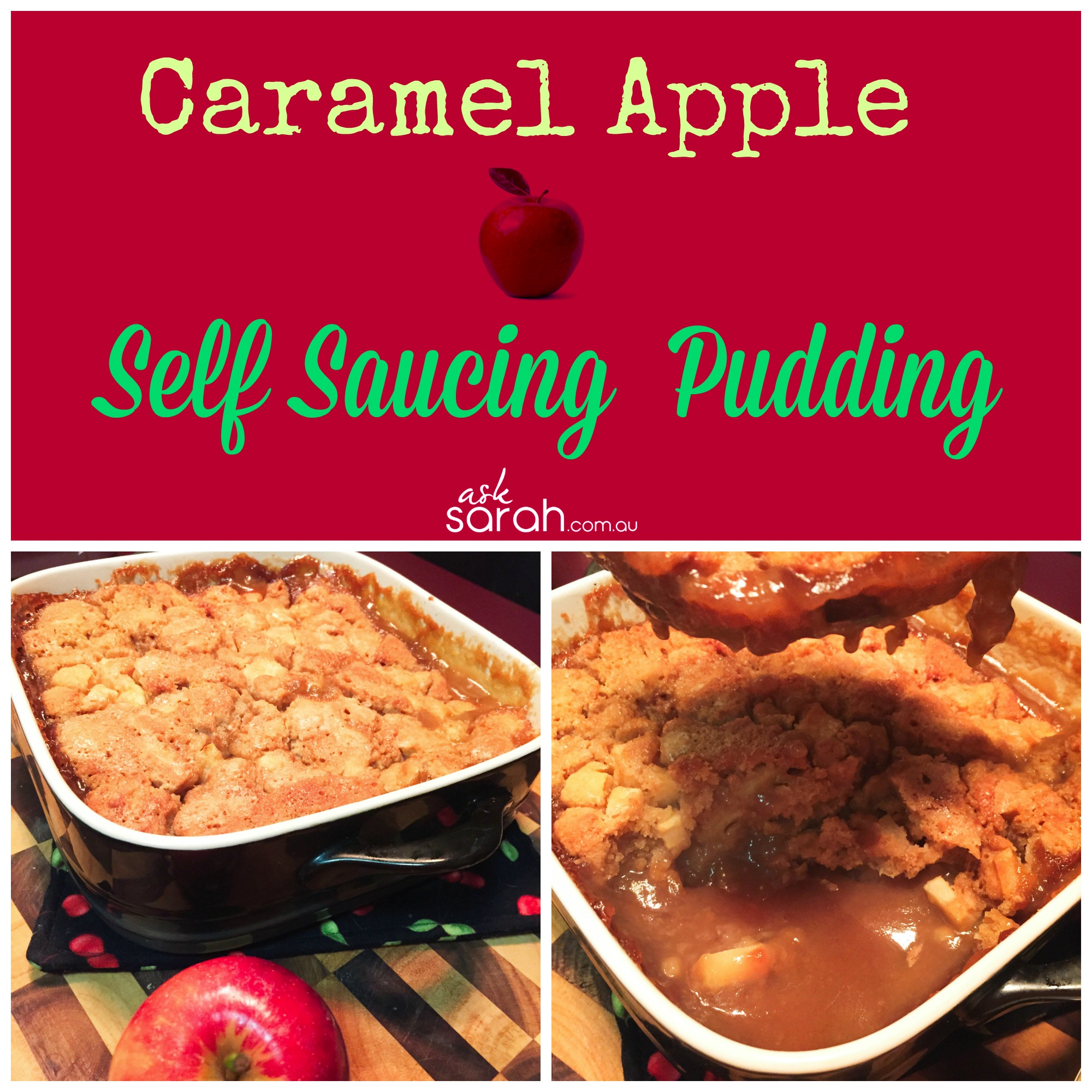 Recipe: Caramel Apple Self Sauce Pudding {So easy and made from scratch!}