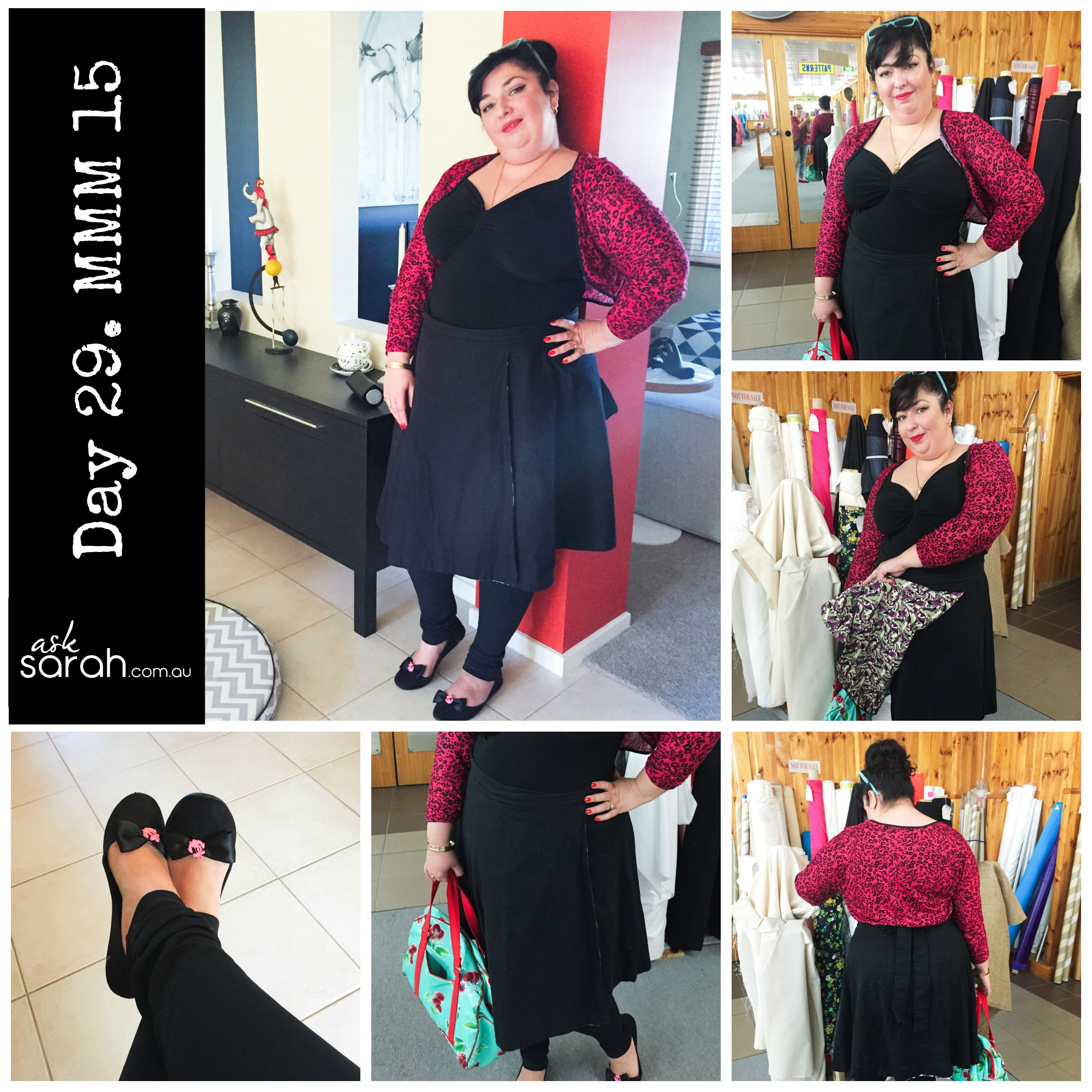 This year I decided to up my MMM pledge to two me made items per day. I include my me made accessories in that too because I don't think to wear them as often as I like. I've really enjoyed going through what I have and picking out what to wear. This is week one and week two and week three and now week four……