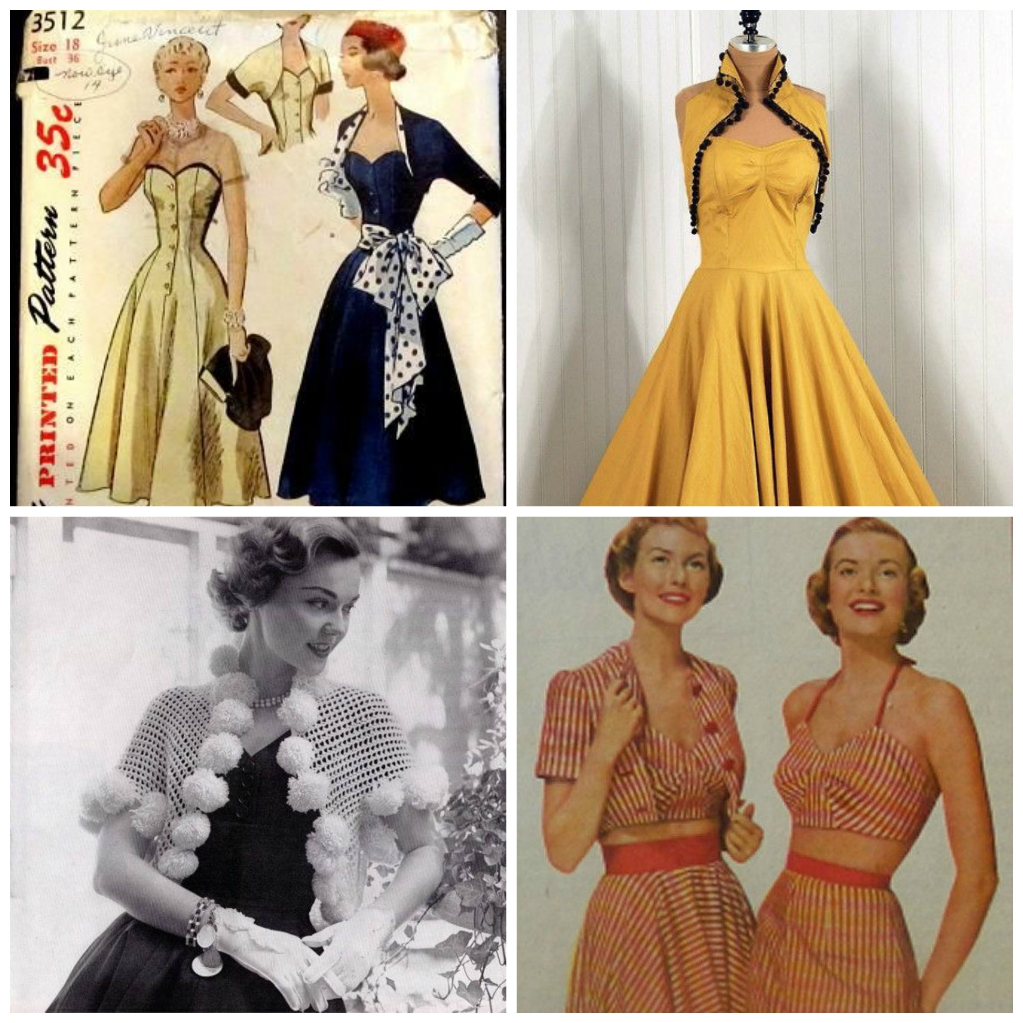 Sew: Three Vintage Retro Shrugs/Boleros {FREE pattern from So Sew Easy!}