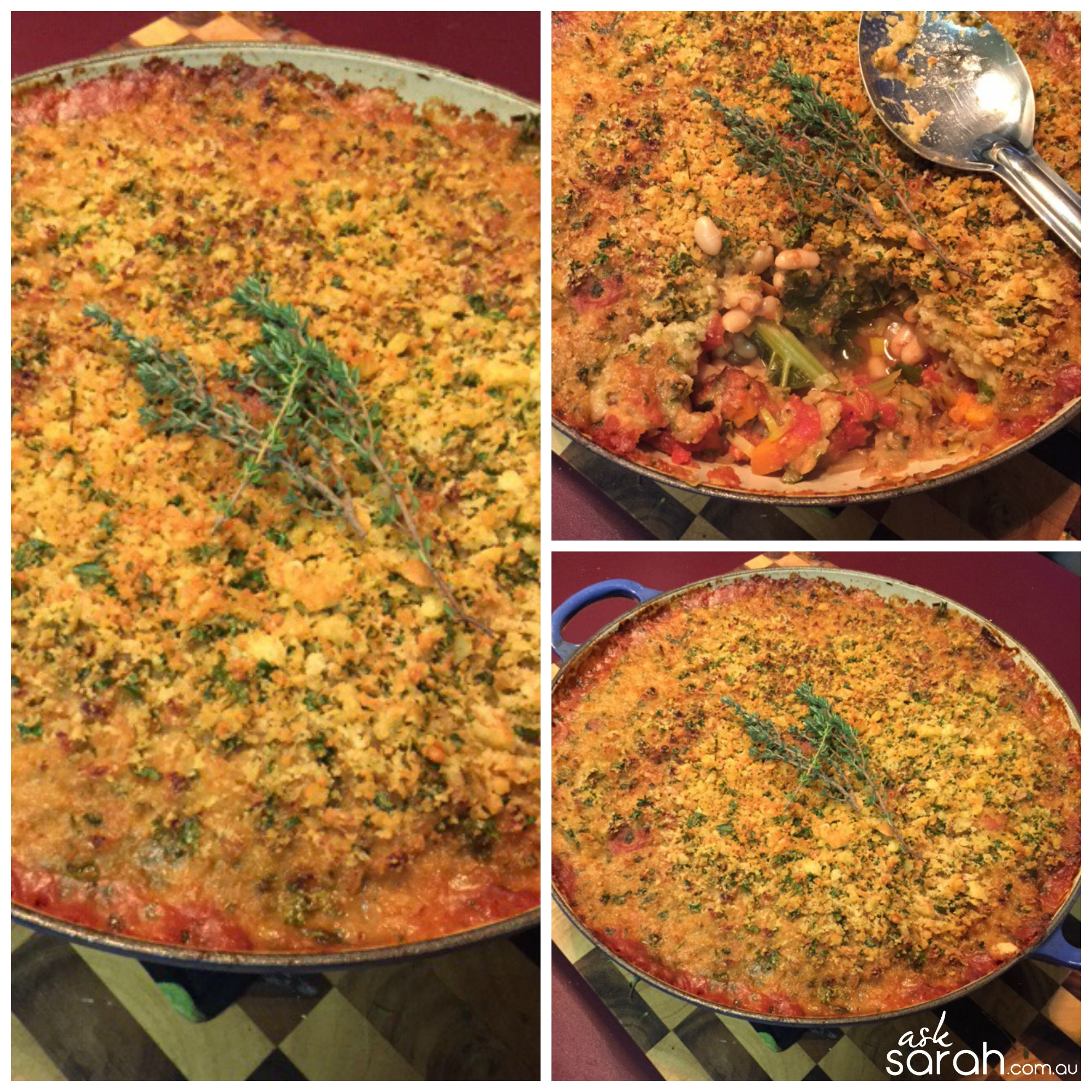 Recipe: French Style Vegetarian Cassoulet {Hearty Winter Bean & Vegetable Casserole}