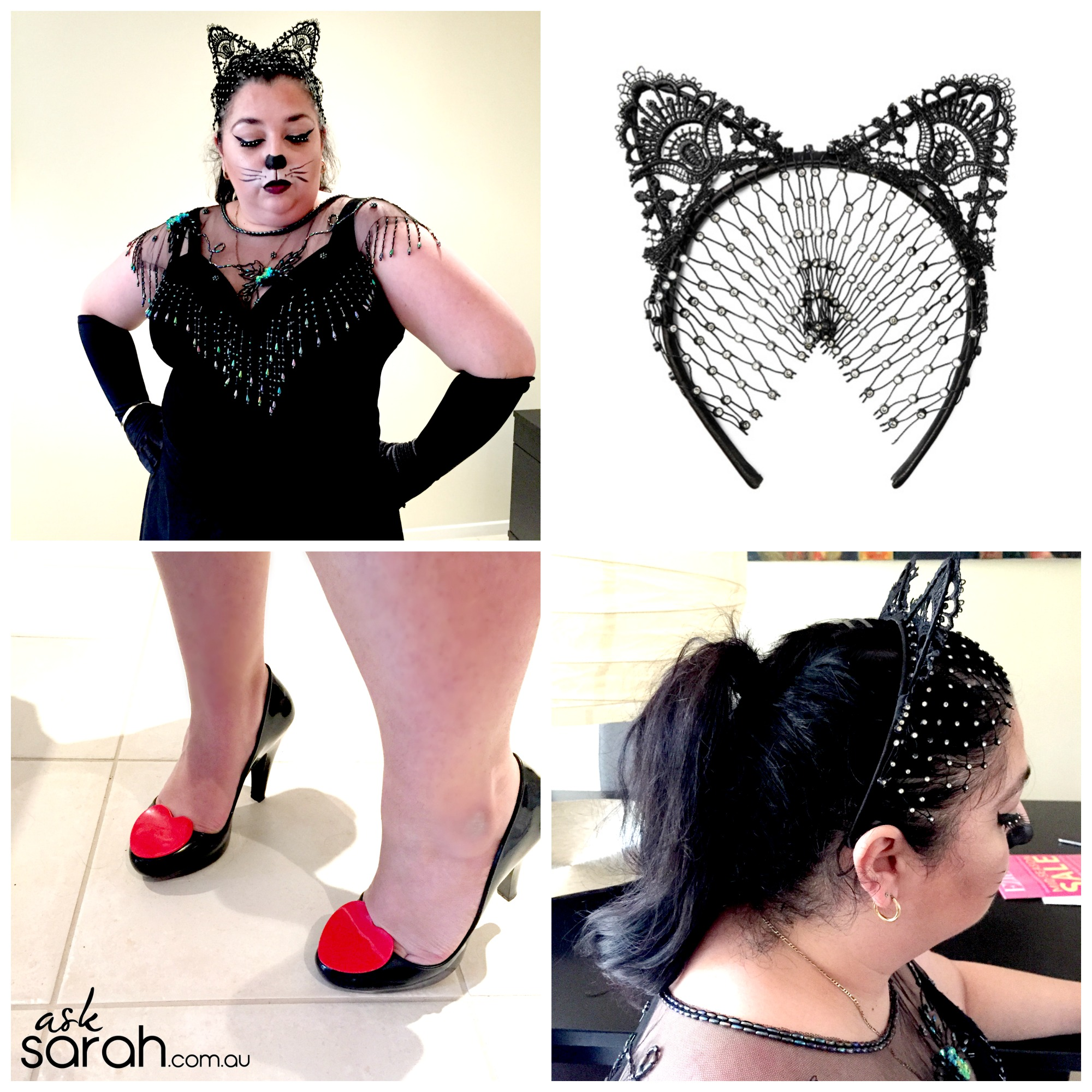 Halloween: Elegant Cat Makeup Tutorial & Costume {No Fancy Facepaint or Special Skills Required!}