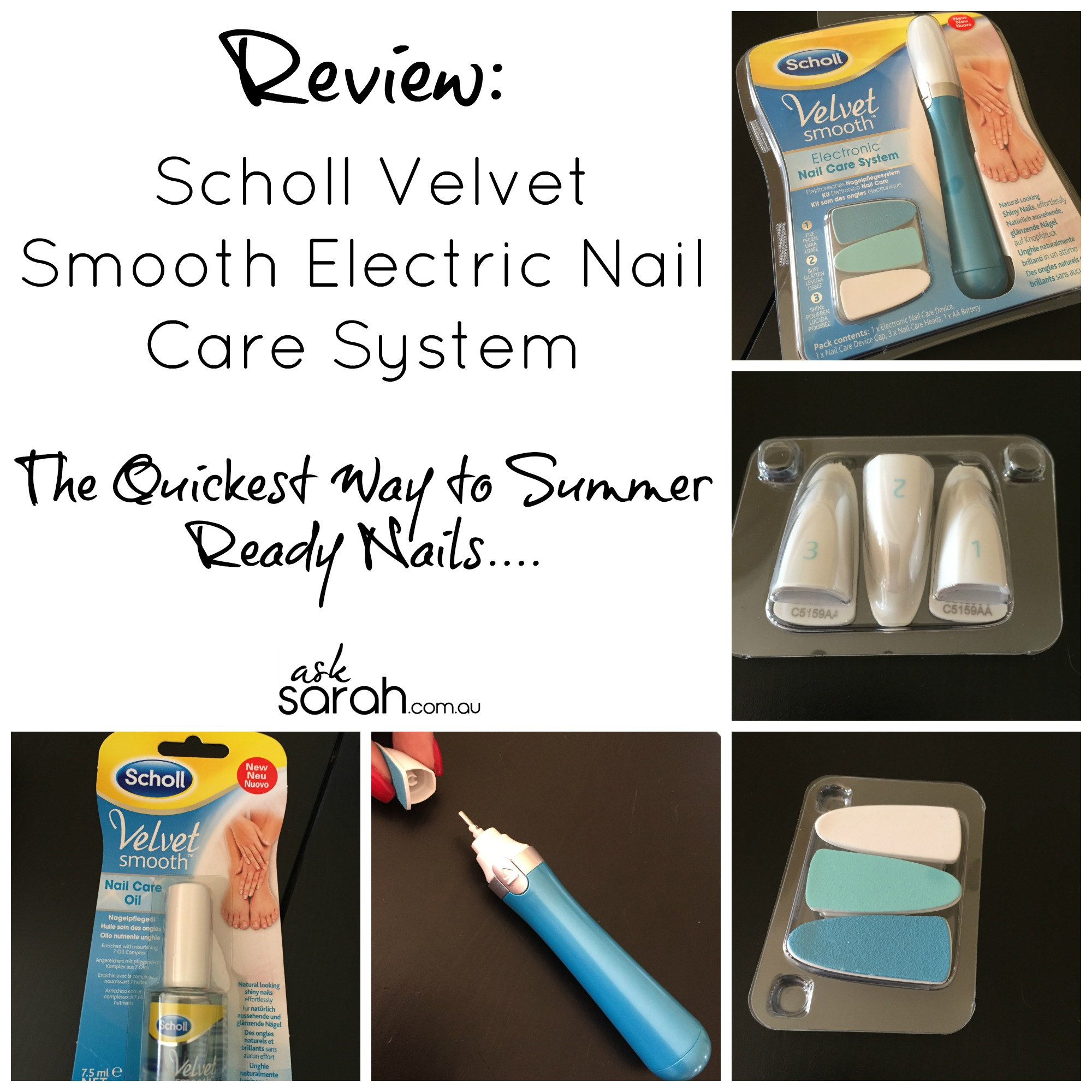 Review: Scholl Velvet Smooth Electric Nail Care System {The Quickest Way to Get Summer Ready Nails}