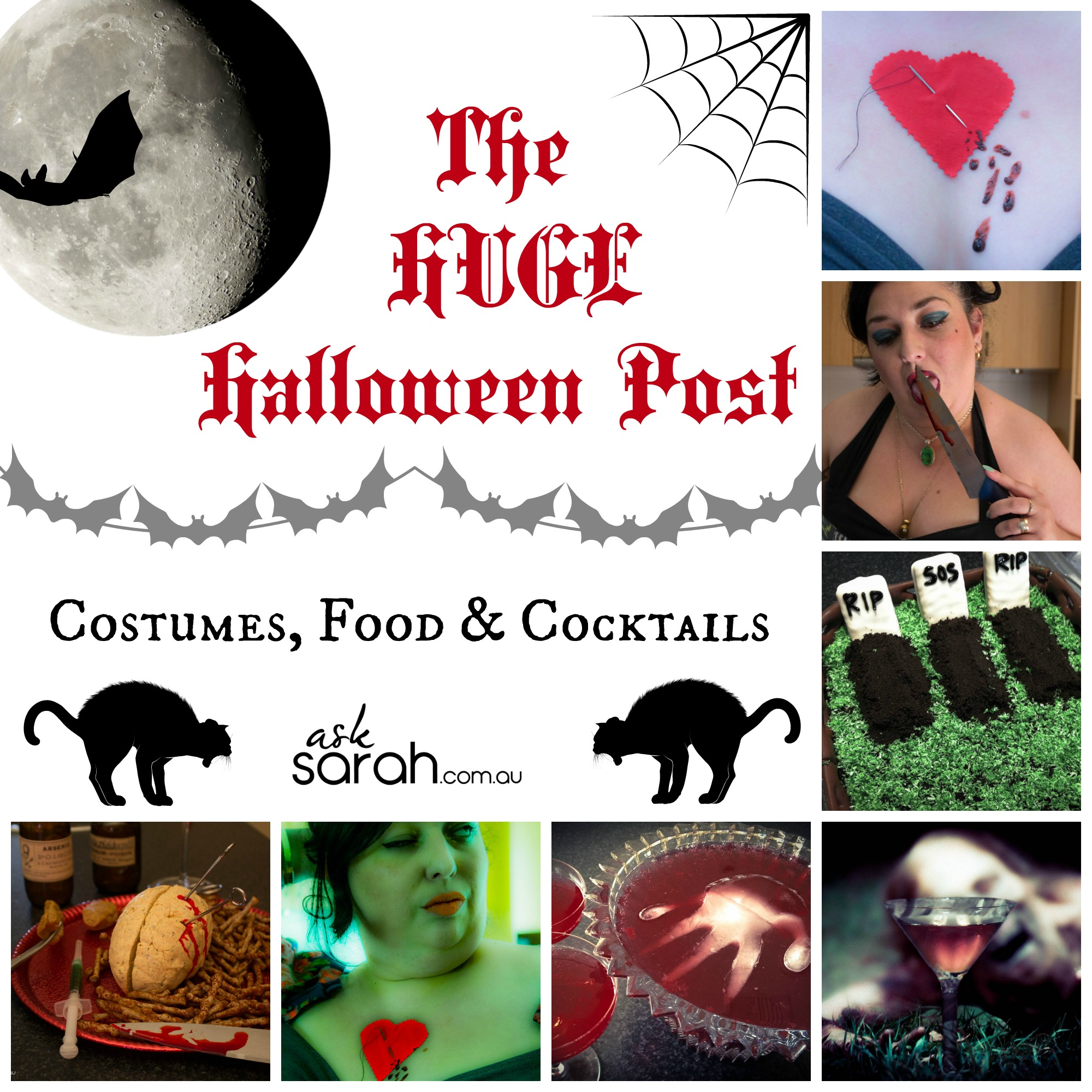 Halloween: The HUGE Halloween Post! {Quick Costumes, Gory Food & Scary Cocktails}