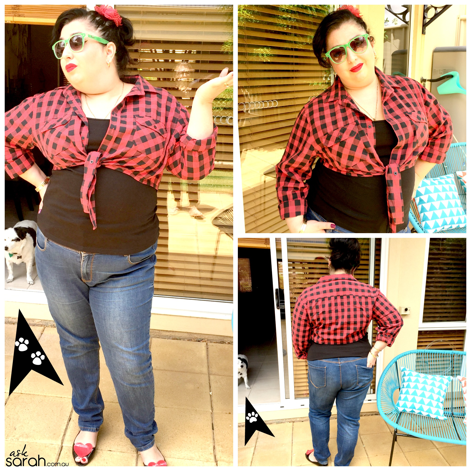 Sew: Men's Shirt to Cute Ladies Tie Up {A Super Quick & Easy Rockabilly Refashion}
