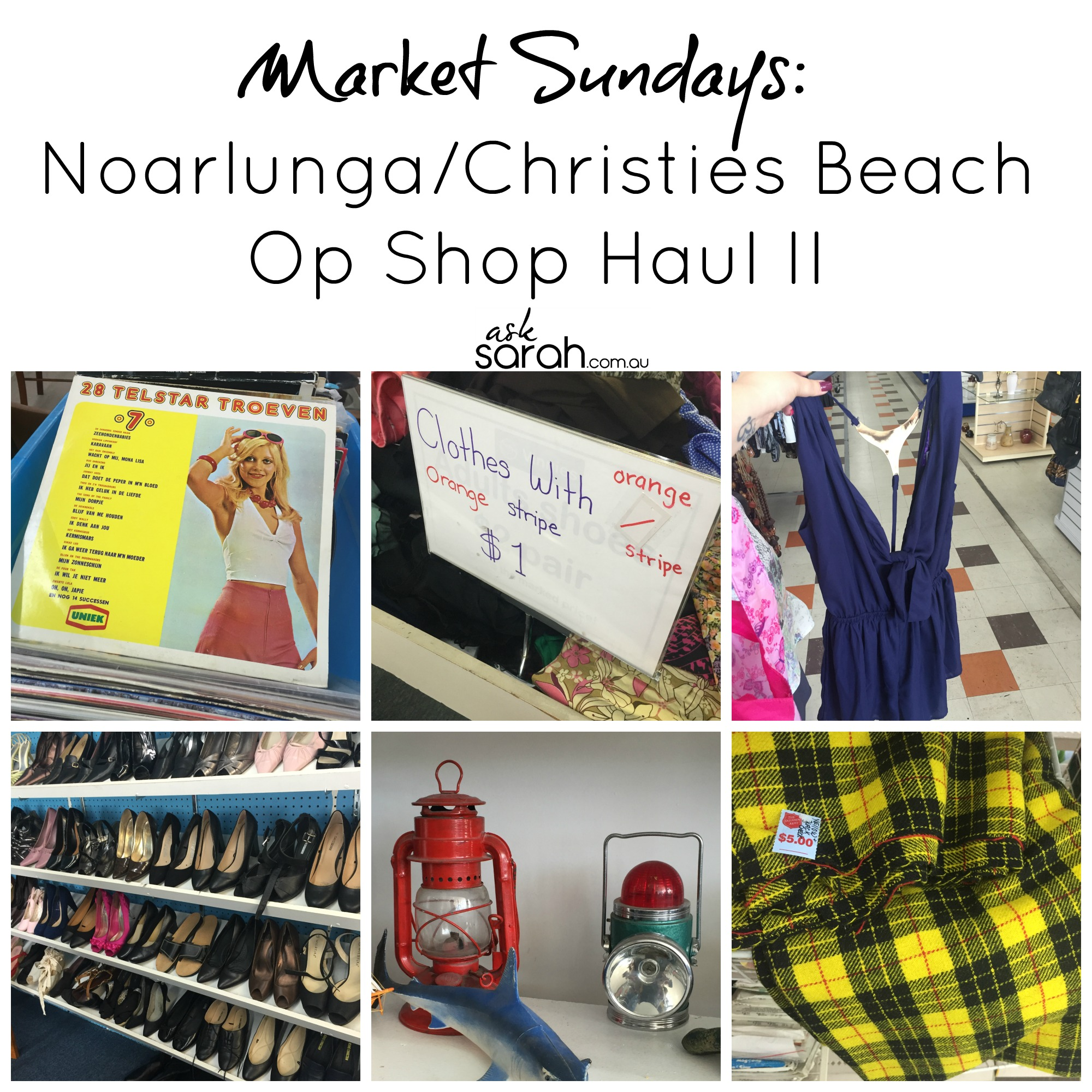 Market Sunday's: Noarlunga/Christies Beach Op Shop Haul Round 2