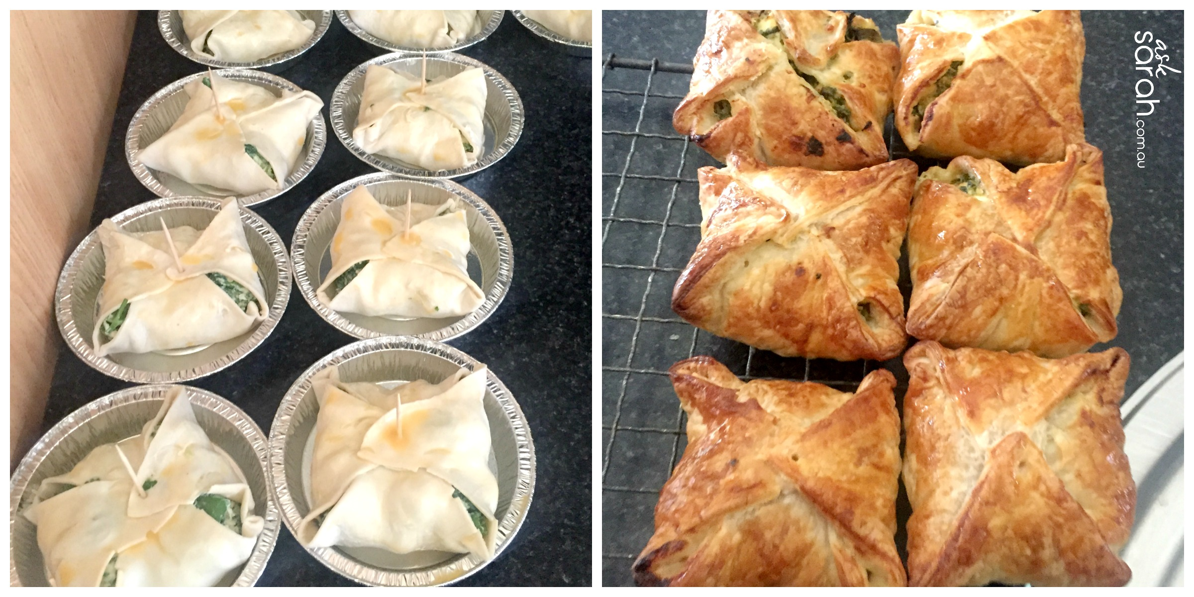 Recipe: Spinach & Four Cheese Mini Pies {Full of Flavour &Vegetarian}