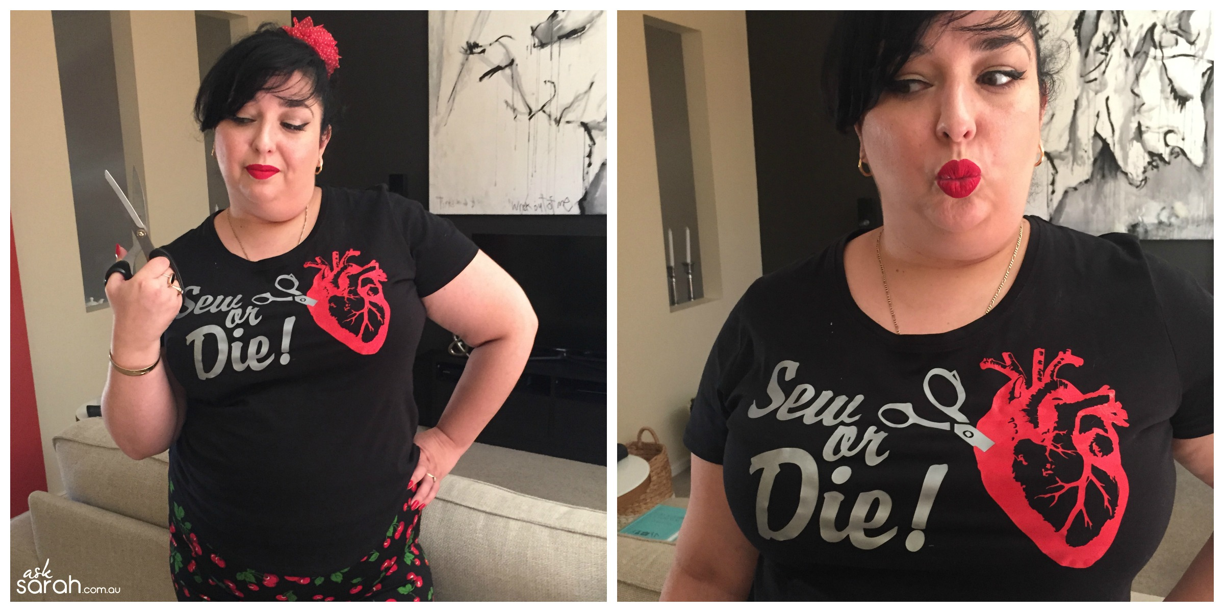 "Make: Valentine's ""Sew or Die"" Anatomical Heart Tee {FREE .Studio File So You Can Make Your Own!}"