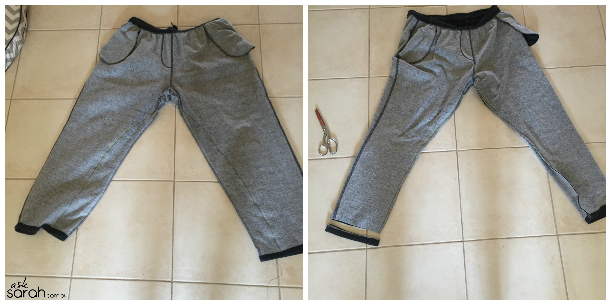 Sew: Sweat Pants to Jogger Refashion {Go From Daggy To On Trend With A Quick DIY}