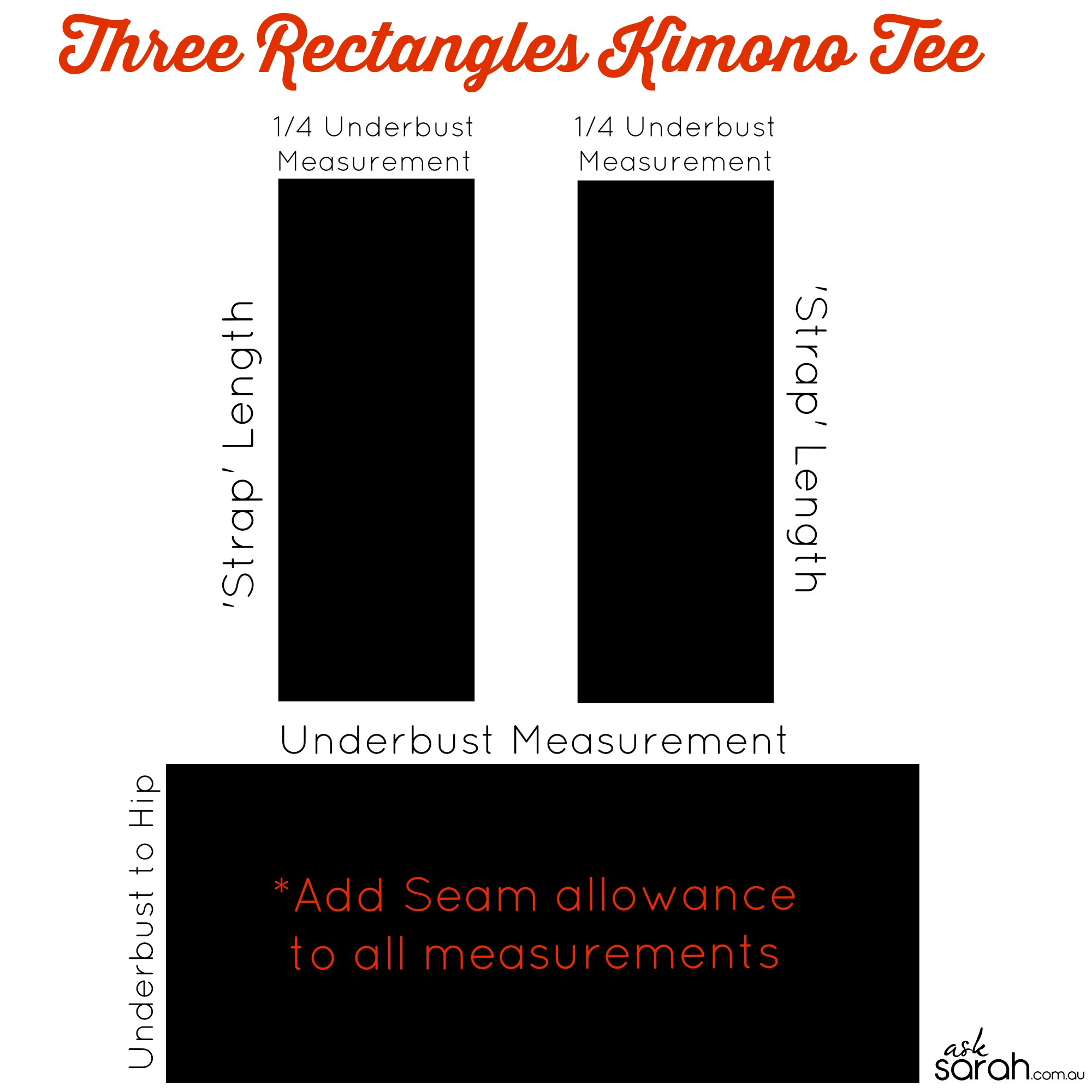 Sew: Three Rectangles Kimono Tee {The Most Simple Tee You'll Ever Make & It's Retro Cute!}