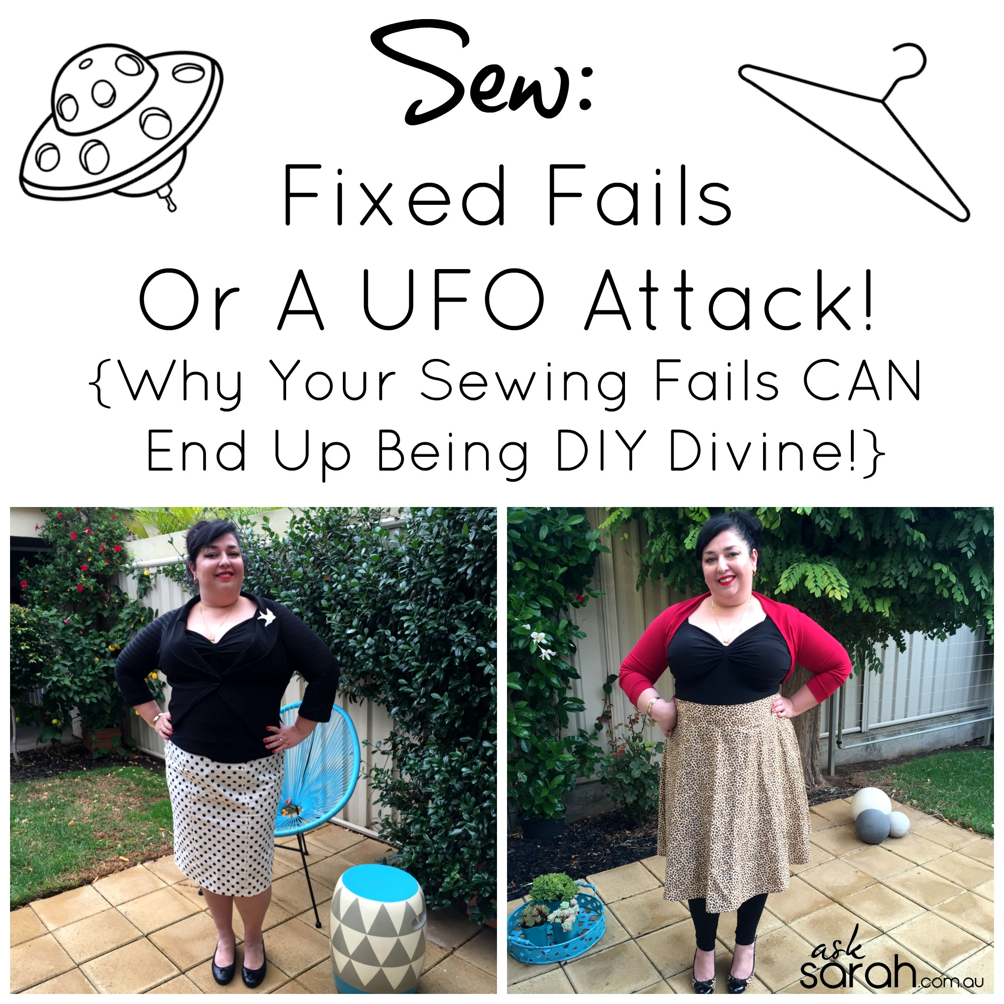 Sew: Fixed Fails Or A UFO Attack! {Why Your Sewing Fails Can End Up Being DIY Divine!}