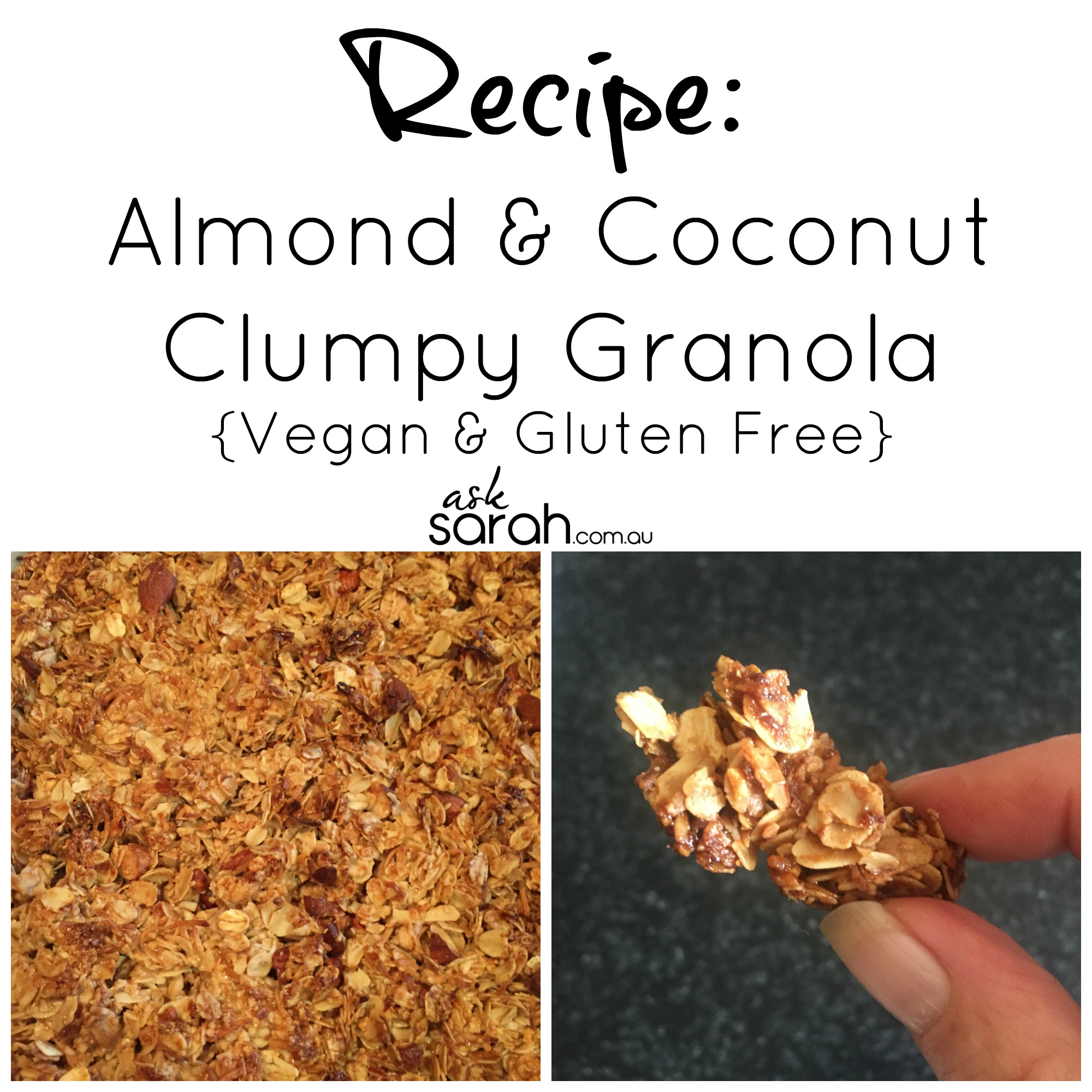 Recipe: Almond & Coconut Granola {Vegan & Gluten Free}