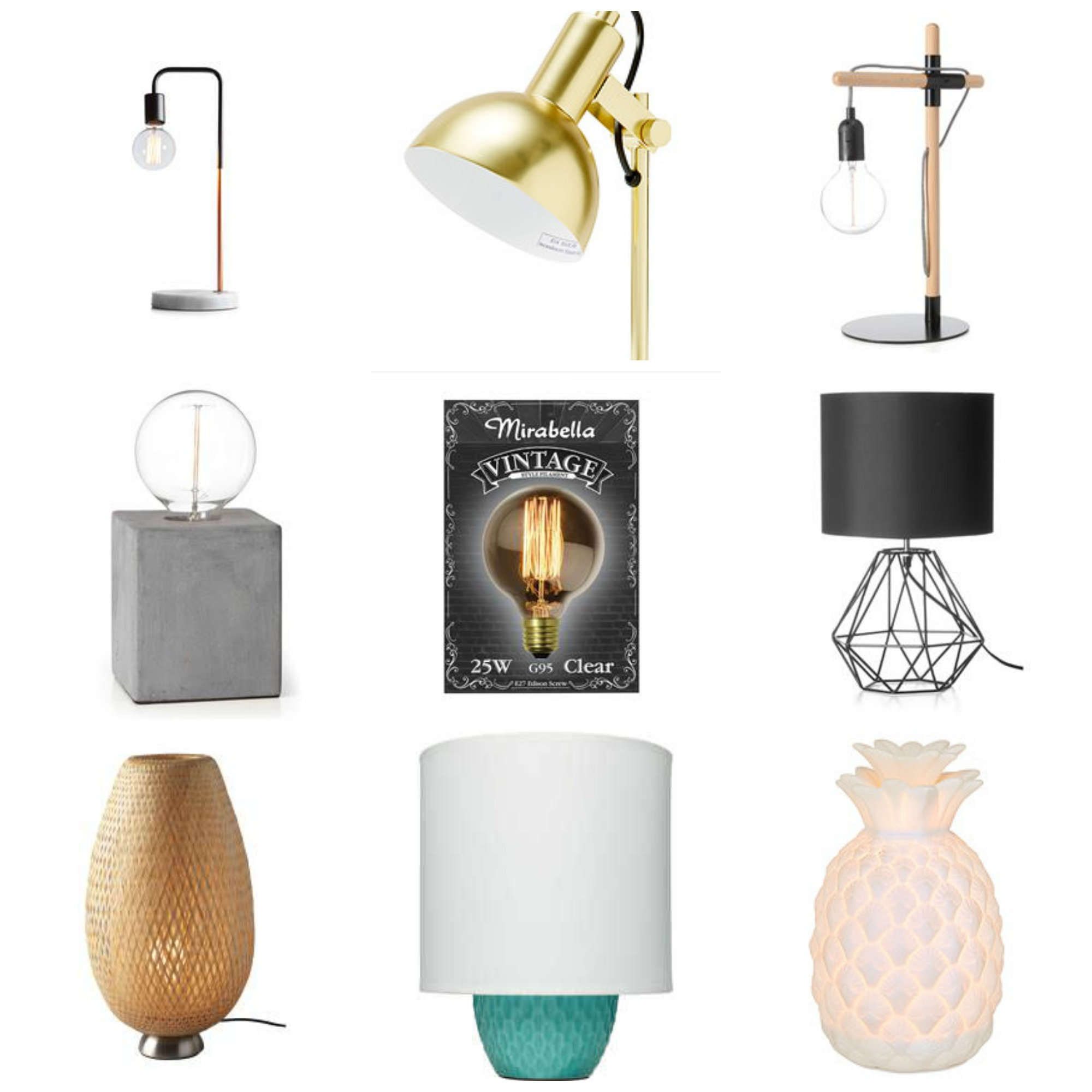 Luxe Lamps Collage