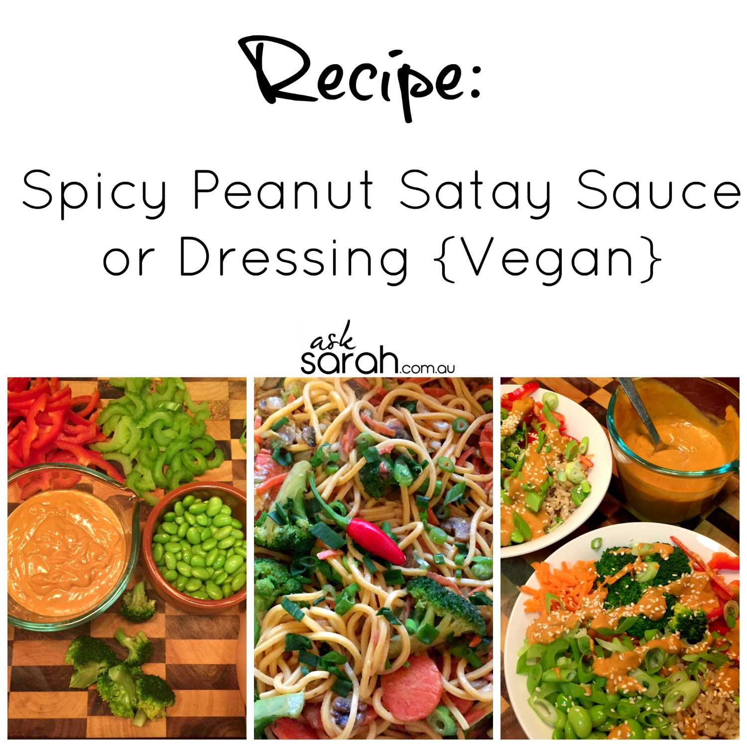 Recipe: Spicy Peanut Satay Sauce or Dressing {Vegan}
