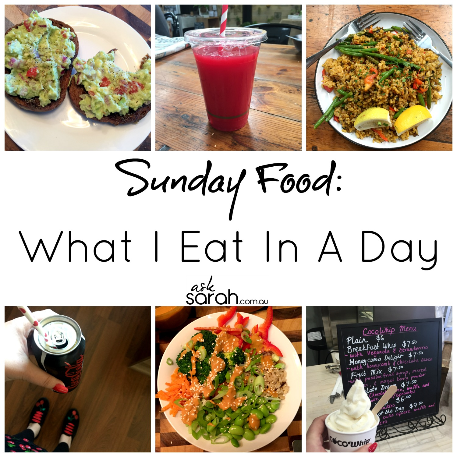 Food: What I Eat in A Day - Sunday {Vegetarian/Vegan}
