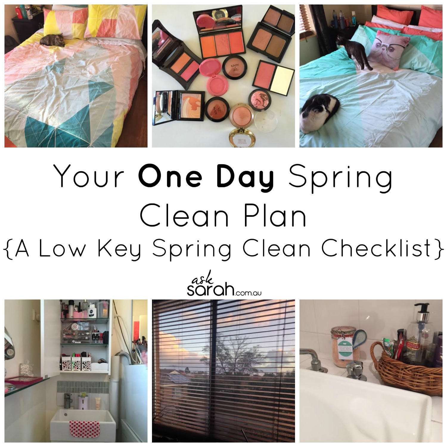 Your One Day Spring Clean Plan {A Low Key Spring Clean Checklist}