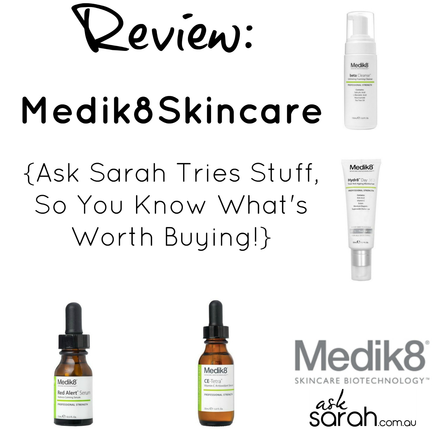 Review: Medik8 Skincare {Ask Sarah Tries Stuff, So You Know What's Worth Buying}
