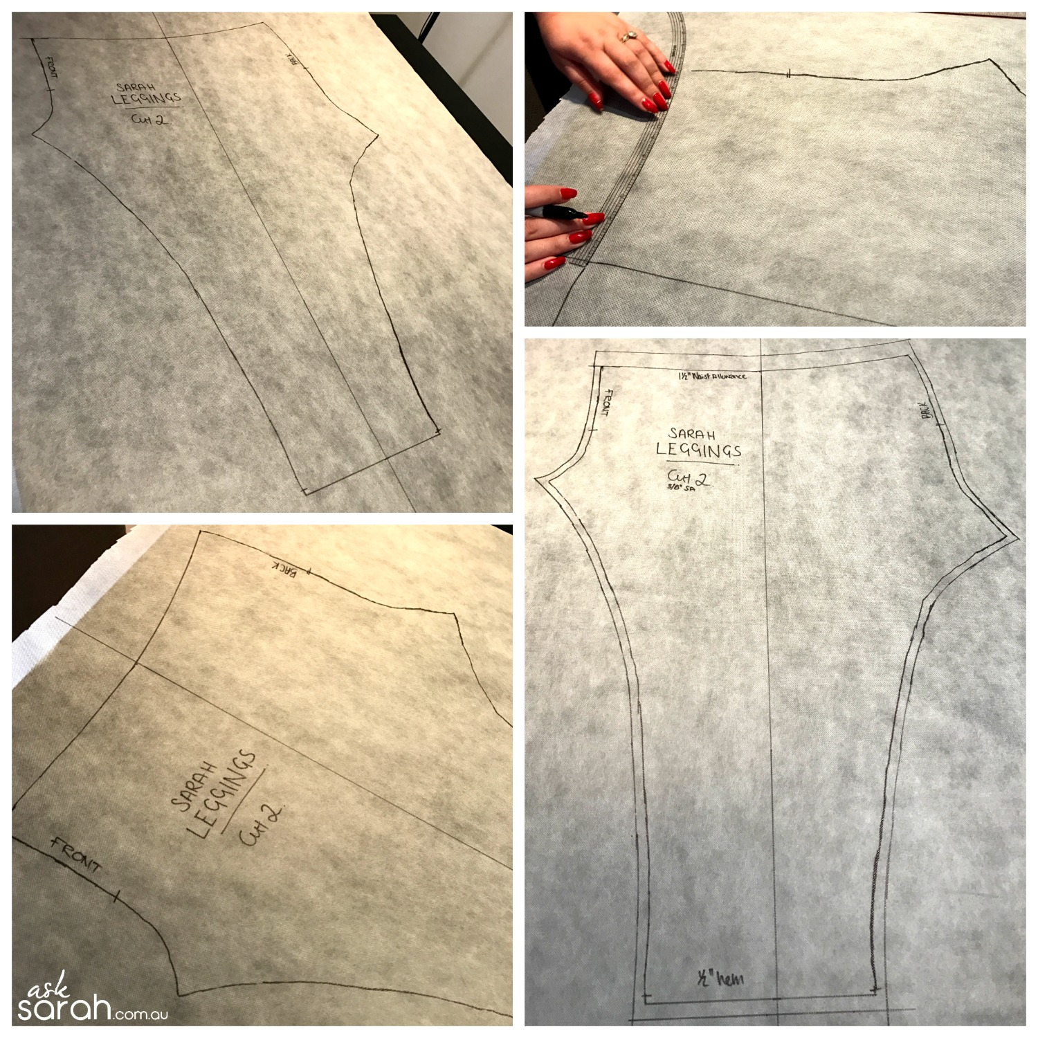 Sew DIY Leggings Tutorial {Make A Pattern From An Existing Pair} Seam Allowance