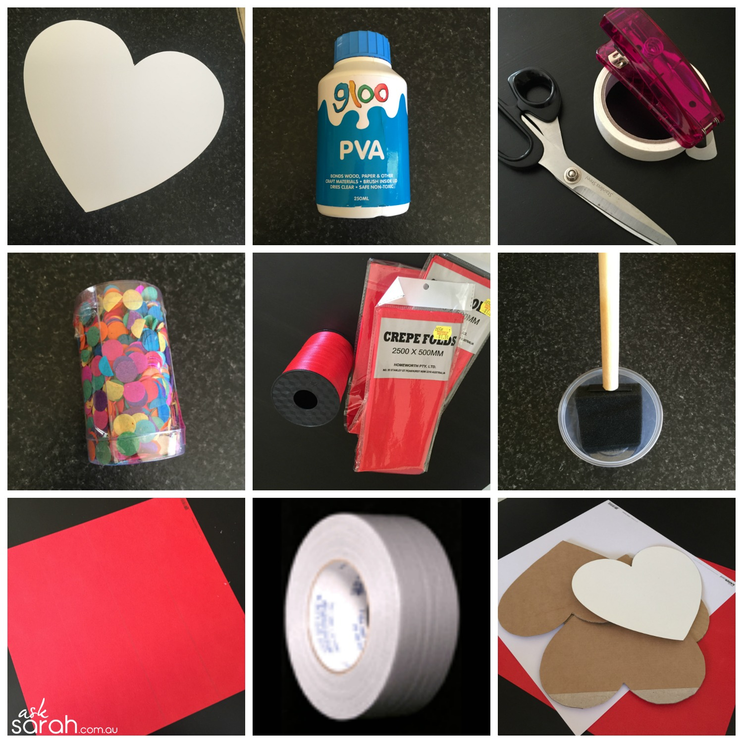 Make DIY Heart Shaped Pull Piñata Tutorial {Happy Valentines!} - You'll Need